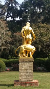 Dionysus by Edward Francis McCartan Modeled in 1923 in small size, Dionysus was enlarged specifically for Brookgreen Gardens in 1936