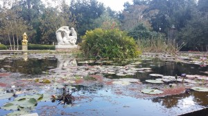 This fountain occupies the site of the original house which was burned in 1901. It serves as the main reservoir for the distribution of water to all points of the garden