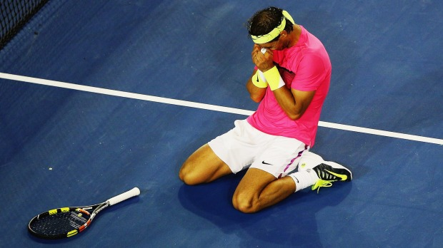 Nadal crumbles down in Victory